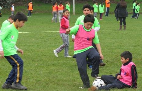Más de 500 niños de Chimbarongo participaron en el Encuentro Deportivo Formativo del MINDEP