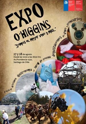 EXPO O'HIGGINS potenciará atractivos turísticos de la región en Santiago para incentivar visitas esta temporada