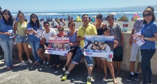 SEREMI de Salud refuerza en Pichilemu mensajes de consumo seguro de alimentos