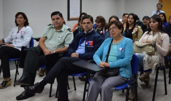 Funcionarias de Gendarmería participan en jornada de prevención de cáncer de mamas y útero