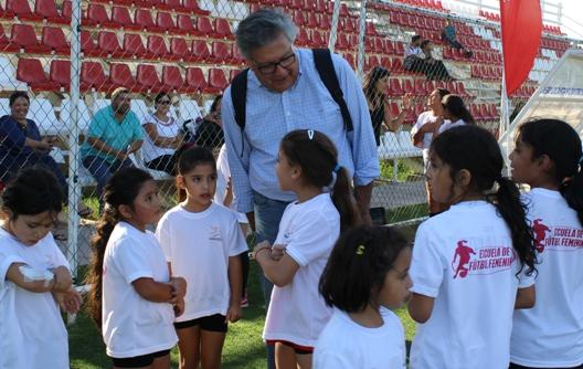 Con gran éxito debuta la Escuela Municipal de Fútbol Femenino de Rancagua