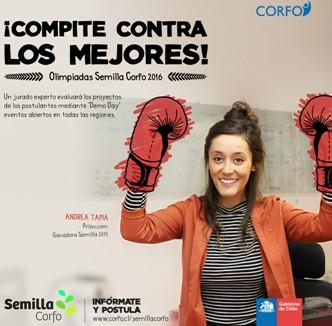 Nueva convocatoria de Semilla CORFO premiará a los mejores emprendedores en todo Chile