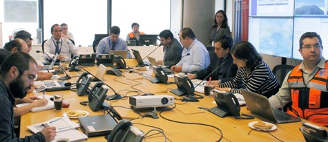 ONEMI coordina mesa técnica ante sistema frontal que afectará a la zona centro sur
