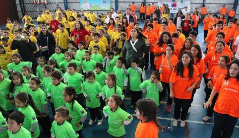 Más de 300 pequeñitos de Pichilemu participaron en encuentro EDI y celebraron del Día Mundial del Desafío