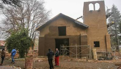 Más de 90% de avance en su reconstrucción tiene Iglesia de La Compañía