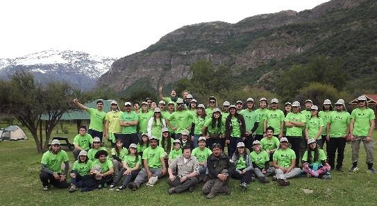 60 jóvenes inician trabajos voluntarios en Reserva Nacional Río de Los Cipreses