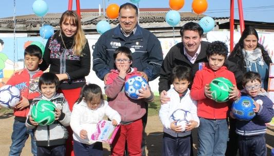 Gracias al Subsistema Chile Crece Contigo inauguran Plaza Inclusiva de Juegos Infantiles en Villa Principal de San Fernando