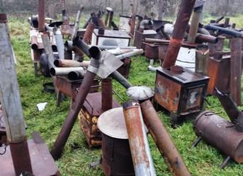 SEREMI del Medio Ambiente de O´Higgins lideró proceso de chatarrización de 409 calefactores a leña