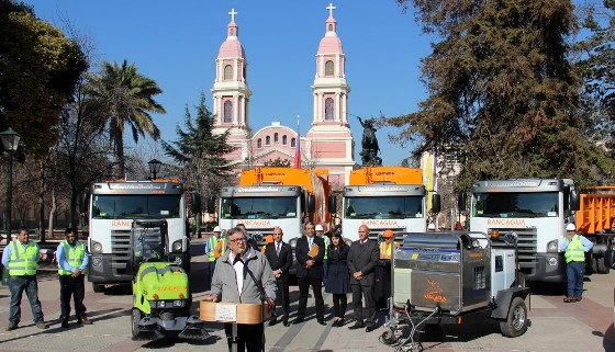 Con más camiones y un ahorro proyectado de 800  millones inicia nuevo servicio de basura en Rancagua