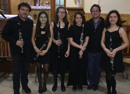 Concierto de clarinetes, la mejor música en todos los sectores Rancagua