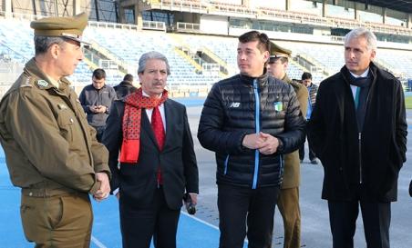 Fiscalizan medidas de seguridad de Estadio El Teniente para encuentro entre O'Higgins y Universidad Católica