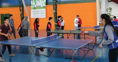 Niños de Graneros participaron en clínica de tenis de mesa gracias al MINDEP