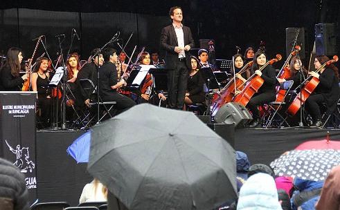 La lluvia no fue excusa para poder disfrutar los entretenidos panoramas de Toccata Rancagua
