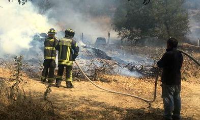 Incendio en cerro Pan de Azúcar de Graneros