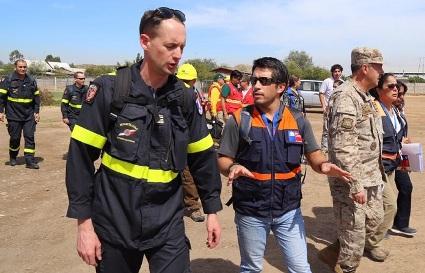 Avanzada francesa de expertos en incendios forestales llega a la Región de O´Higgins