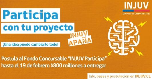 INJUV lanza Fondo Concursable #Participa2017 por $800 millones para financiar iniciativas juveniles