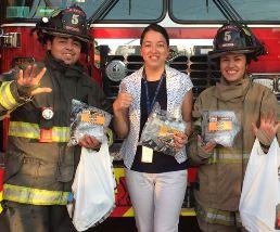 CAPJ Zonal Rancagua entrega donación de antiparras a Bomberos