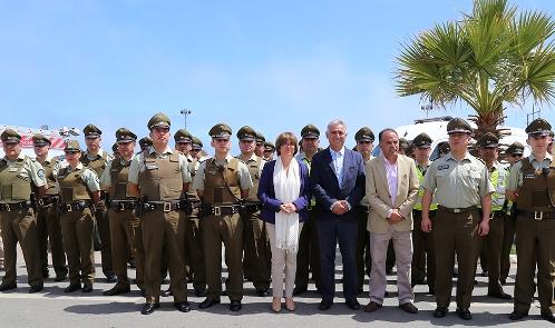 Funcionarios policiales y marinos llegarán a reforzar la labor en prevención y seguridad durante este verano