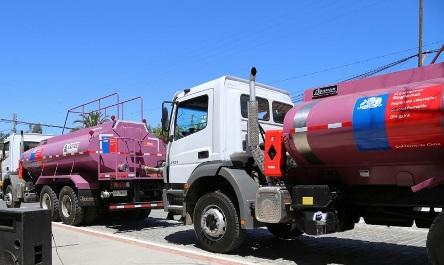 Bomberos de la Región reciben tres nuevos carros aljibes para combatir incendios