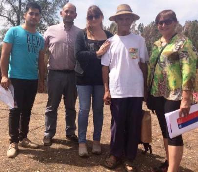 Coordinadora de SENAMA O'Higgins visitó a Adultos Mayores damnificados por los incendios forestales