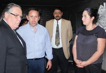 Ministro de Justicia da a conocer medidas de atención de usuarios tras incendio en oficinas de Mostazal