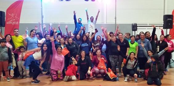 Madres rancagüinas celebraron su día con actividad física