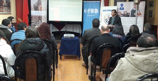 En San Fernando se realizó taller de seguridad turística enfocado en la remoción de masas