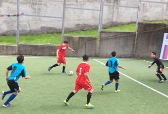 Jóvenes de justicia juvenil de Graneros reciben a sus pares de Til Til para disputar un amistoso de baby fútbol