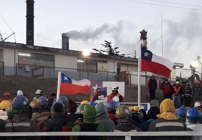 """Trabajadores asociados a SINATRACCH celebraron Fiestas Patrias con cuecas y """"Parada Militar"""" en faenas"""