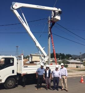 Inician instalación de nuevas luminarias públicas en la comuna de Nancagua