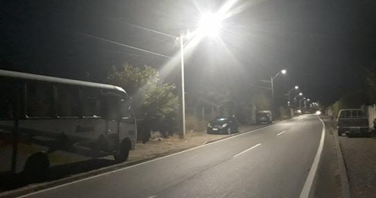 Esperado recambio de luminarias se realizó en Tinguiririca