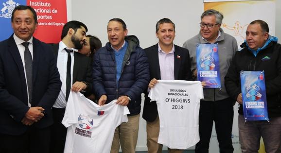 Autoridades y deportistas de O'Higgins dieron el vamos a los Juegos Binacionales de Integración 2018