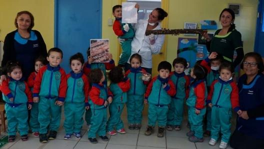 Niños de Paredones conocen el hongo Shiitake