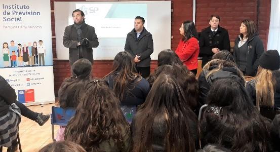 Educación Previsional para alumnas del liceo Técnico de Rancagua