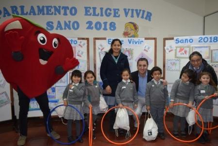 Enmarcado en Elige Vivir Sano se realizó en Rancagua el 1er Parlamento dirigido a menores de 6 años