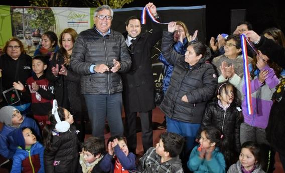 SEREMI de Vivienda y Urbanismo y Alcalde de Rancagua inauguraron obras en la población Costa del Sol I