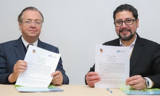 Universidad de O'Higgins y FIDE VI Región firman convenio