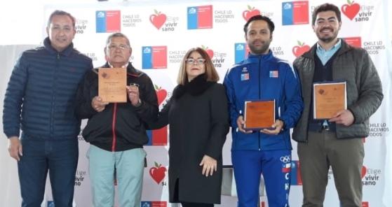 Ministerio del Deporte reconoció y  premió a deportistas machalinos