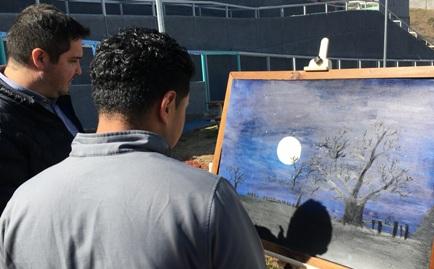 Jóvenes del centro cerrado de Graneros exponen sus obras