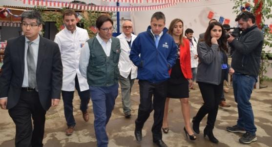 Intendencia de O'Higgins y SEREMI de Salud aprobaron fiscalización a fondas de Rancagua