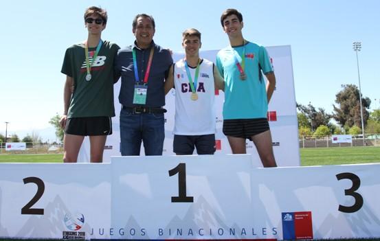 Deportistas Binacionales se lucieron en finales de atletismo en Complejo Deportivo Patricio Mekis de Rancagua