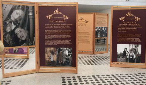 Biblioteca de Palmilla recibe muestra itinerante de la vida y obra de Margot Loyola
