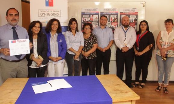 """Servicio de Salud O´Higgins firmó compromiso de """"Tolerancia 0 contra la violencia"""""""