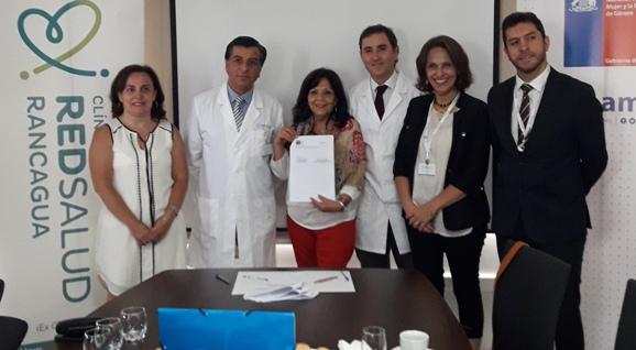 SernamEG O'Higgins y Clínica Red Salud Rancagua Firman Convenio Acuerdo de Cooperación