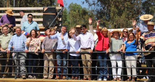 Intendente Masferrer y Alcalde de Las Cabras inauguran la nueva Medialuna de la comuna