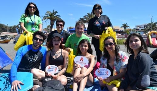 """Los Test Rápidos de VIH se """"toman"""" las playas de la región de O´Higgins"""