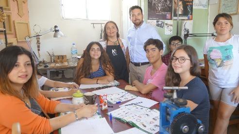 INUUV O'Higgins dicta talleres recreativos y educativos a jóvenes de la región