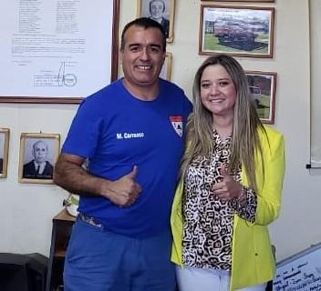 Directora Hospital Coinco se reúne con Superintendente de Bomberos