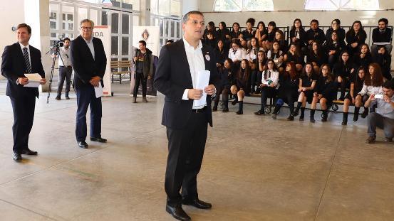 Intendente Masferrer explicó los alcances del Plan Elige Vivir Sin Drogasa estudiantes de Rancagua