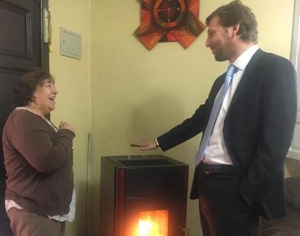 Con visita de Subsecretario de Medio Ambiente se da inicio al Programa Recambio de Calefactores en O'Higgins